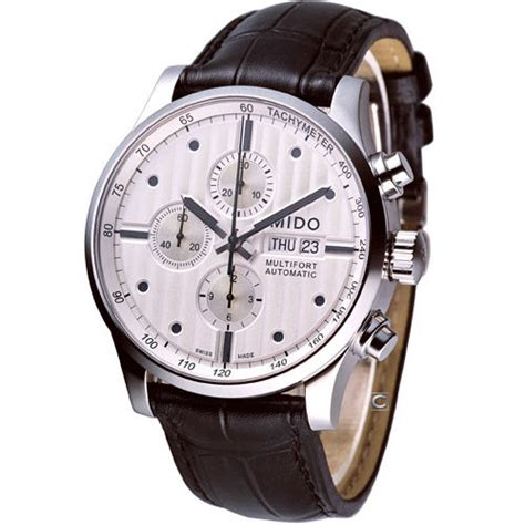 Mido Chrono 1918 Leather Brbu For mido multifort chronograph automatic swiss white m0056141603100 leather ebay