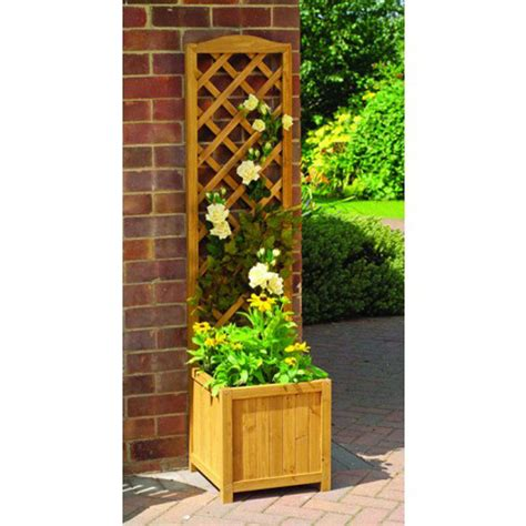 Wooden Planters With Trellis toulouse wooden trellis garden planter by garden