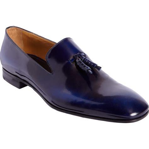mens navy tassel loafers prada wholecut tassel loafer in blue for navy lyst