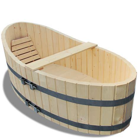 wooden barrel bathtub wooden bathtub 178x87cm bath tub including drain tap