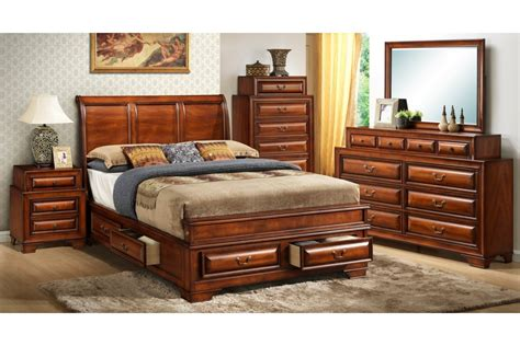 contemporary king bedroom set cherry modern bedroom