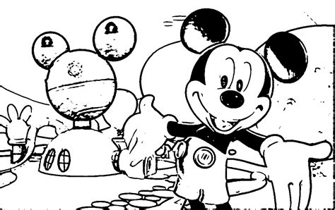 Images Coloring Pages Mickey Mouse House Of Mouse Coloring Mickey Mouse House