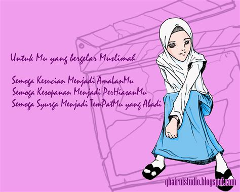 wallpaper cartoon muslimah image gallery muslimah wallpaper