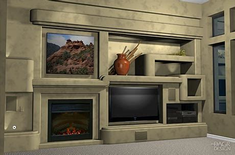custom full wall unit with accented fireplace moda eliminate the guesswork with a 3d design of your home