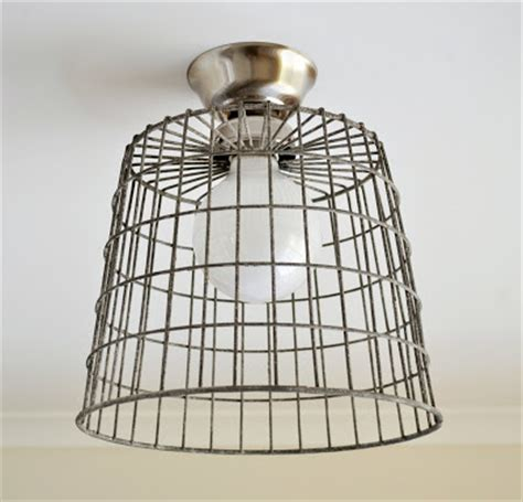 Diy Ceiling Light Shade The Painted Hive Diy Repurposed Basket Ceiling Light