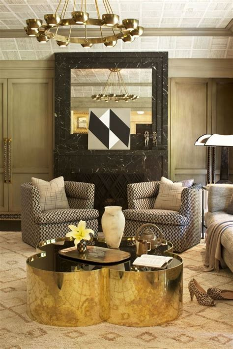 sophisticated gold coffee tables for your living room