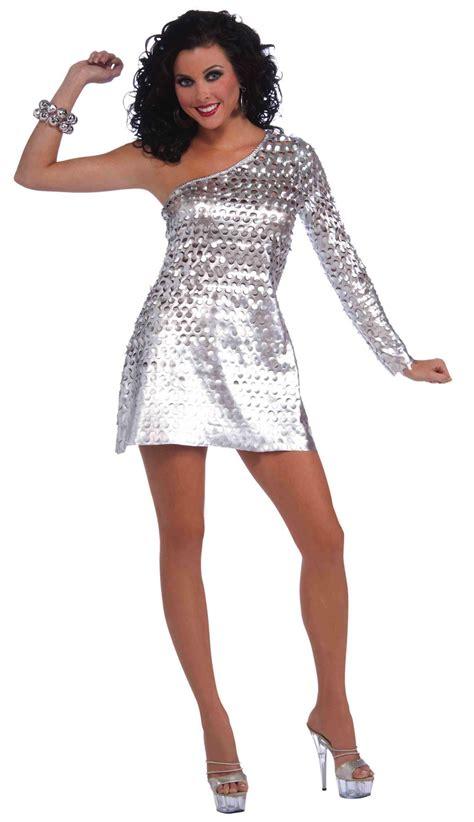 Costume Rompi Silver 1 70s disco honey 80s retro silver dress costume ebay