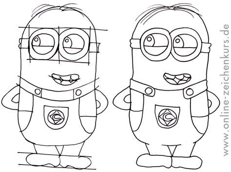 Leichte Bilder Zeichnen by Anleitungen Minions Zeichnen Lernen F 252 R Kinder Und Erwachsene
