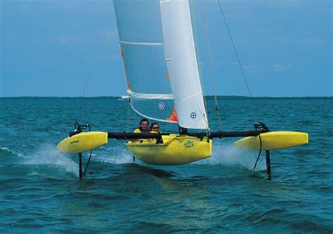 hobie hydrofoil boat windrider rave multihull sailing pinterest