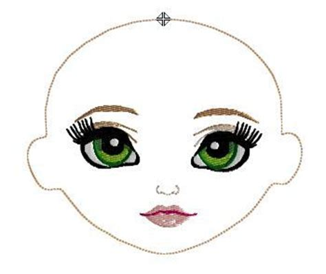 embroidery face whimsy dolls machine embroidery this adorable