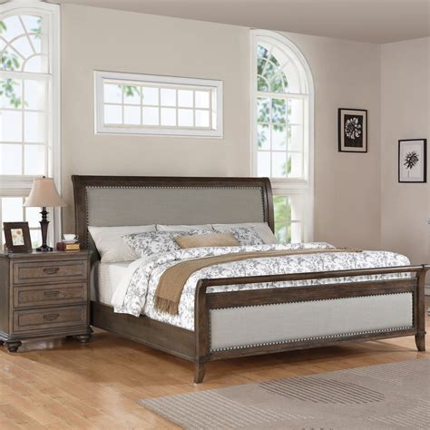upholstered headboard bedroom set demarlos 4pc upholstered panel bedroom set in parchment