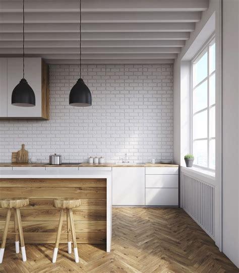 cuisine brique cuisine en brique ou blanche 36 id 233 es ultra tendance