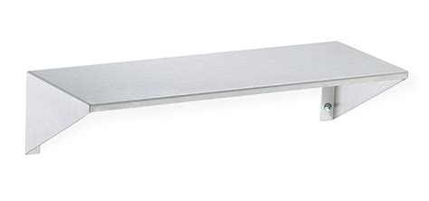 Shelf Stainless Steel by Stainless Steel Shelf With Integral End Brackets Bradley