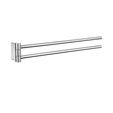 swing towel rail smedbo air wall mounted swing arm double towel rail ak326