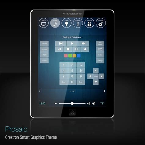 Home Theaters Cinema And Graphics On Pinterest Crestron Gui Templates