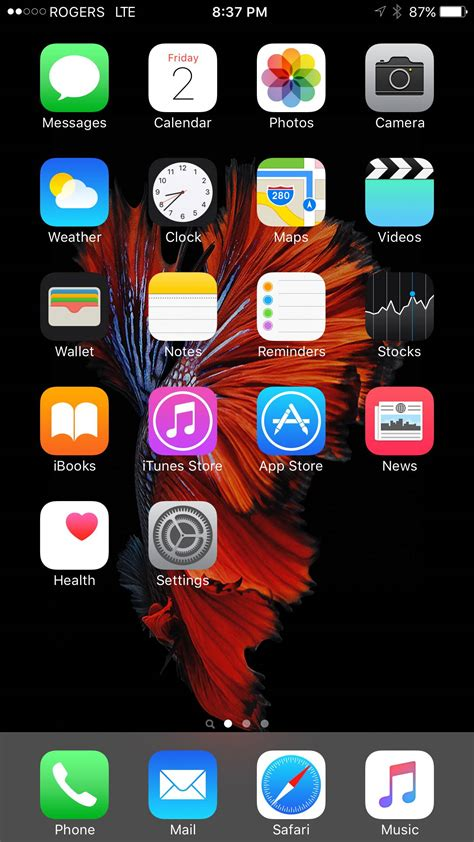 iphone 6 s post your iphone 6s 6s plus home screen macrumors forums