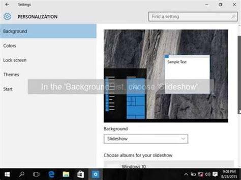 learn windows  automatically change desktop wallpaper