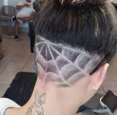 haircut designs spider web undercut shaved heads on pinterest shaved heads