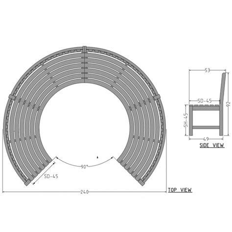 Wicker Outdoor Bench Teak Circular Bench Ob 2 03 Casateak Home Furniture Store