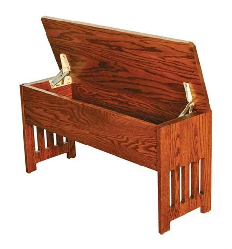 amish storage bench amish mission fliptop storage bench available in four different lengths oak hardwood