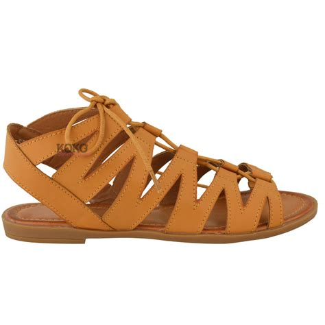 flat peep toe shoes new womens flat cut out sandals chelsea ankle lace