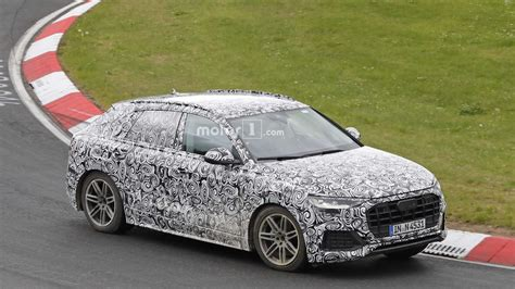 2019 audi q8 the 2019 audi q8 being pushed on the nurburgring