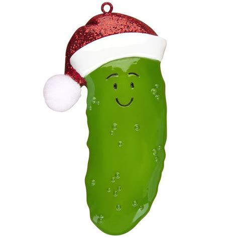 pickle ornaments or1219 pickle with santa hat personalized