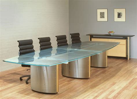 Glass Meeting Table Glass Conference Table For Modern Office Furniture Theydesign Net Theydesign Net