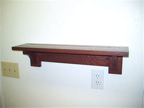 Mission Style Wall Shelf by Mission Arts Crafts Style Plate Shelf By Max