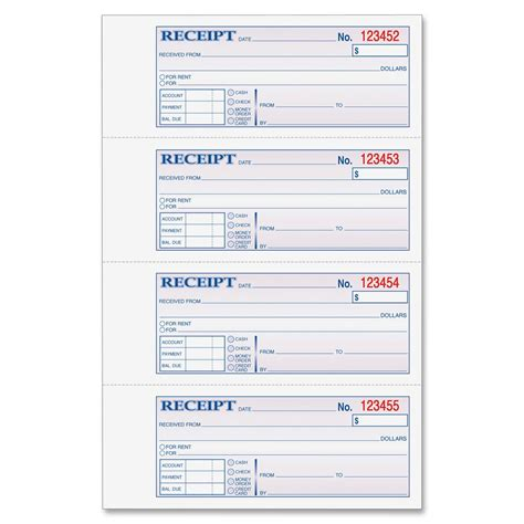 light on harbortouch receipt template 8 best images of free printable receipt book blank rent