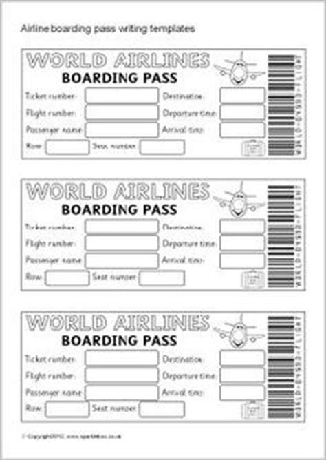boarding pass template for word 10 passport templates free word pdf documents
