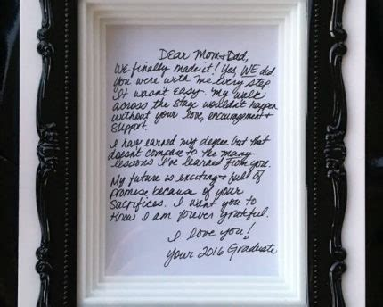 appreciation letter graduation play on words add special touch to gifts thoughtful