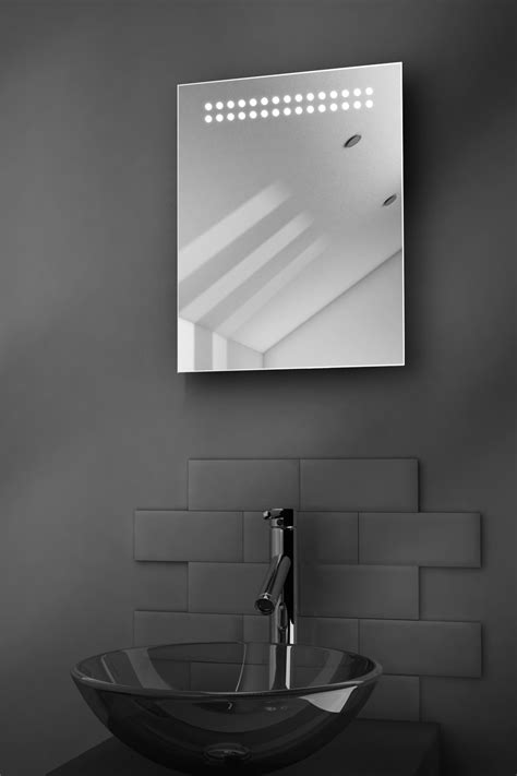 led bathroom mirrors with demister reflect shaver led bathroom illuminated mirror with