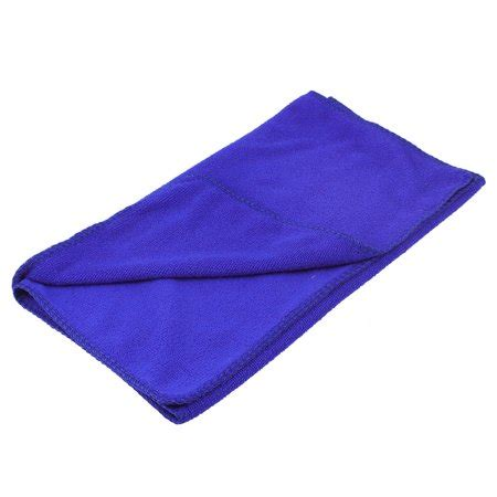 blue rectangle shaped pet dog poodle washcloth drying
