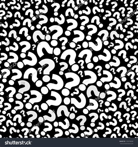 pattern of asking questions question mark seamless background stock illustration