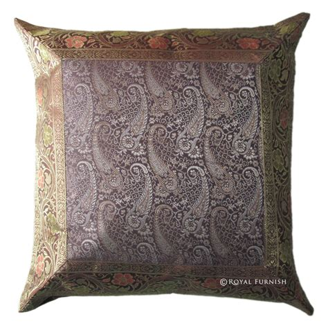 Brocade Pillows by 16 Quot Brown Floral Silk Brocade Throw Modern Pillow