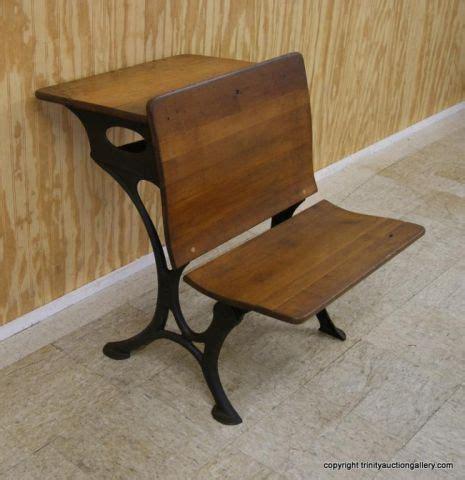 antique cast iron hardwood school desk
