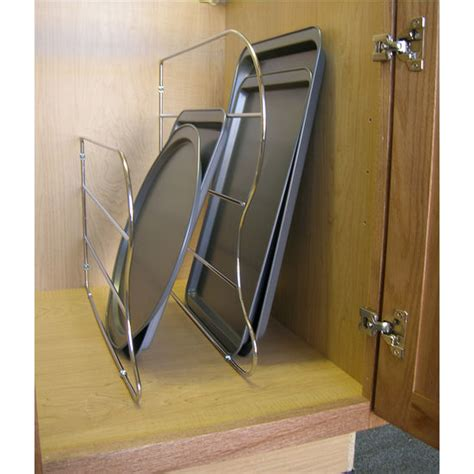 Tray Dividers For Kitchen Cabinets Cabinet Organizers Lazy By Rev A Shelf Chrome Tray Dividers Kitchensource