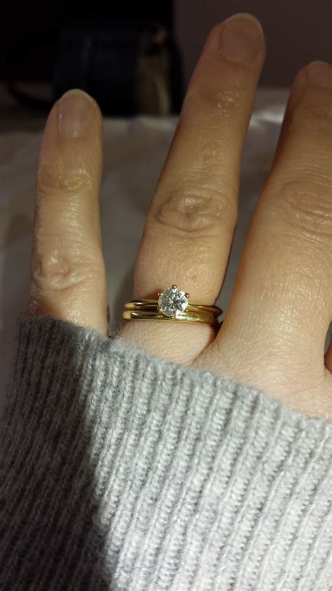 anyone wear a traditional gold wedding band weddingbee
