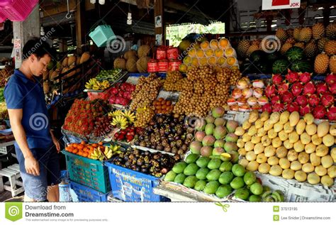 fruit vendor pattaya thailand fruit vendor editorial image image of