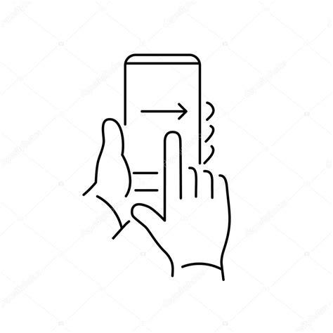 pasar imagenes a vectores pasar el dedo en el tel 233 fono inteligente con pantalla