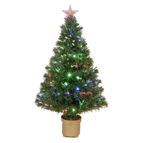 fiber optic artificial christmas trees lowes shop merske jolly workshop 3 ft pre lit artificial tree with 20 twinkling multicolor
