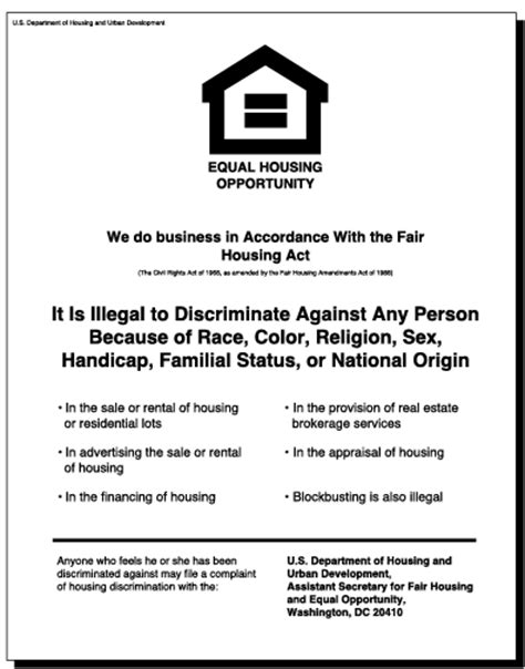 printable equal employment opportunity poster big valley real estate equal housing opportunity