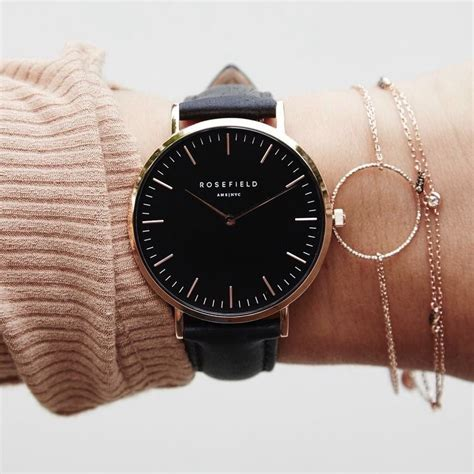 Leather 34mm Rosegold Dan Silver daniel wellington s quartz classic york 0510dw with leather black