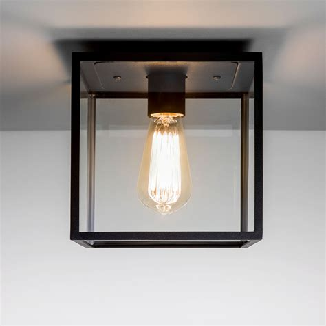 Outside Ceiling Light Astro Box Black Outdoor Ceiling Light At Uk Electrical Supplies