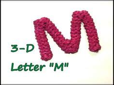 Loom Letter M by 1000 Images About Diy Rainbow Loom 3d Alphabet On