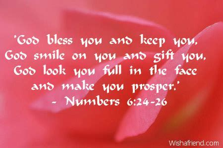 'God bless you and keep you,, Christian Birthday Quote