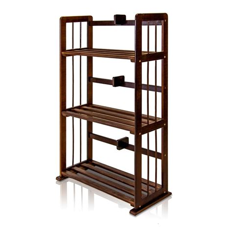 espresso colored bookshelves home decorators collection nolan warm brown folding ladder bookcase 2310000530 the home depot