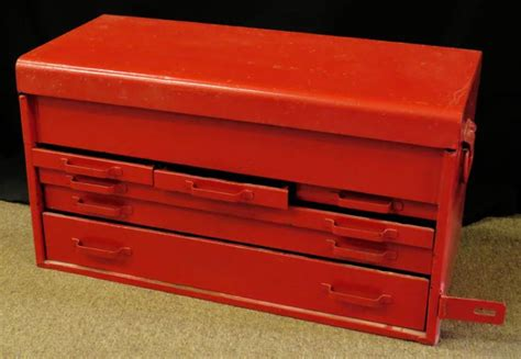 Snap On 6 Drawer Tool Box by Vintage Snap On Six 6 Drawer Tool Box Chest Model Unknown