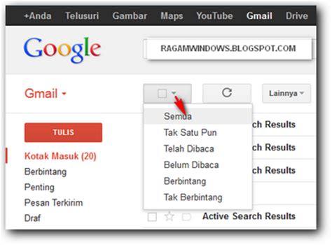 email gmail masuk cara cepat menghapus semua email masuk di gmail